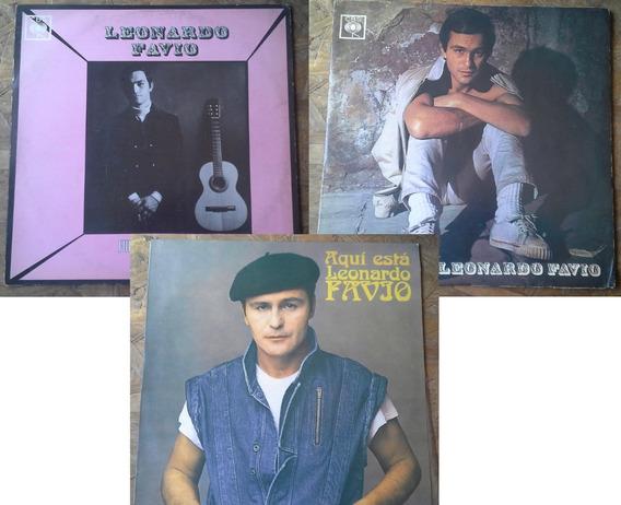 3 Discos De Vinilo De Leonardo Favio 1968, 1969 Y 1983