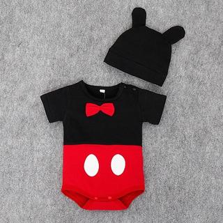 Disfraz Enterito Mameluco Con Gorro 18 Meses Mickey