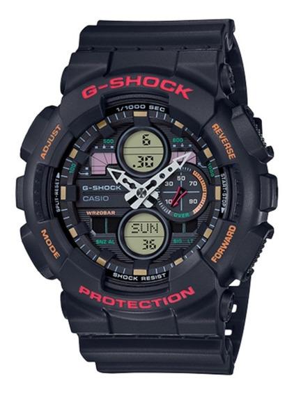 Relógio G Shock Ga140 Preto Color Lançamento Ga 140 Original