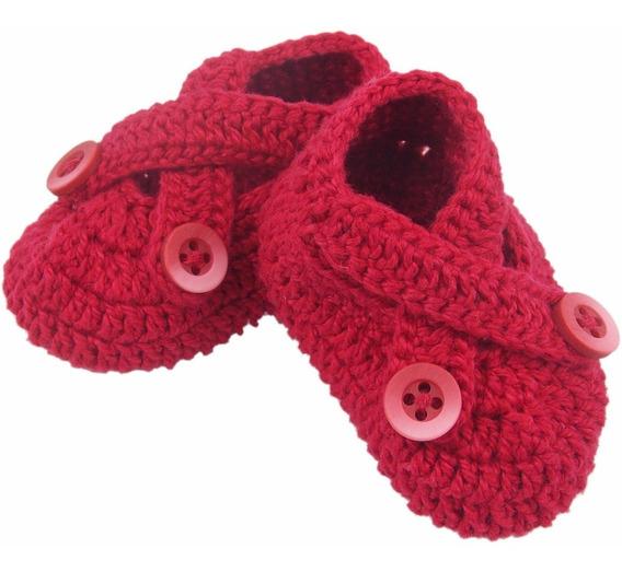 Sapatinho De Crochê Para Recém Nascido Modelo Amora