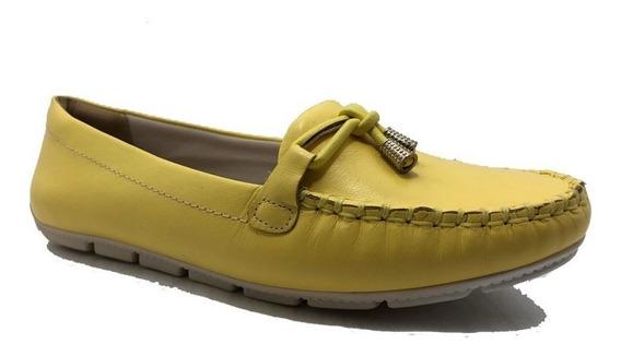 Mocassim Comfortflex Amarelo 1673402