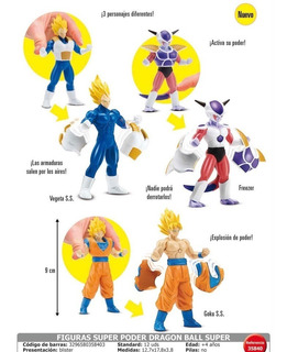 Figura Dragon Ball Super Original Bandai 9cm Goku Vegeta