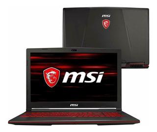 Laptop Msi Gaming Portatil Core I7 Ssd Solido Gtx 1050