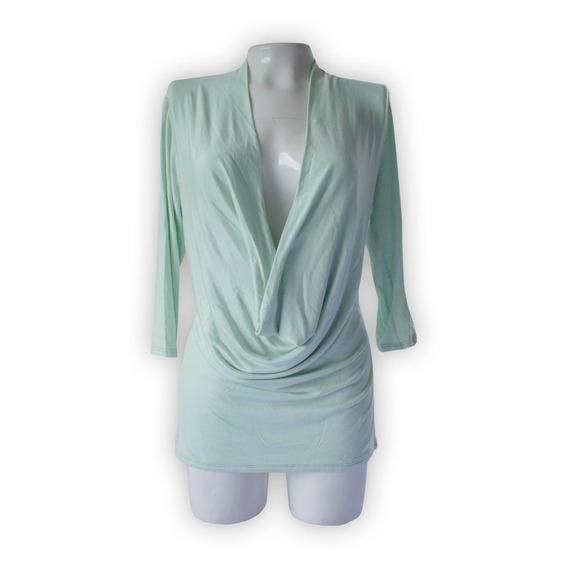 Blusa Studio Y Mujer Talla M Color Verde Aguamarina
