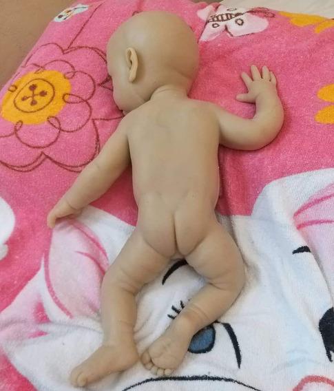 Bebê Reborn Silicone Sólido Cru Molde Reborn