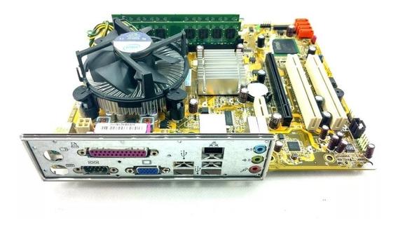 Kit Completo Placa Mãe Processador Dual Core Hd 320 2gb Ram