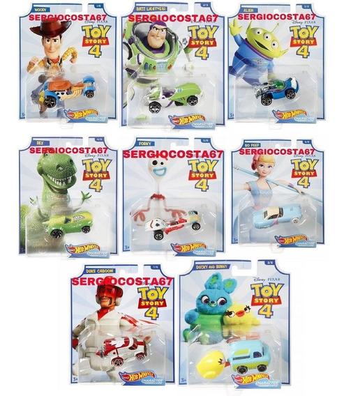 Hot Wheels Toy Story 4 Kit Com 8 Carros Bo Beep + Fork + 6