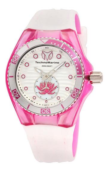 Relógio Feminino Technomarine 113022 Pulseira De Silicone