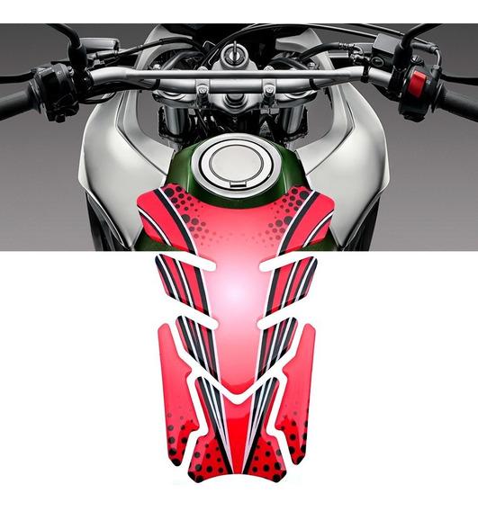 Adesivo Protetor De Tanque Tank Pad Moto Universal Vermelho
