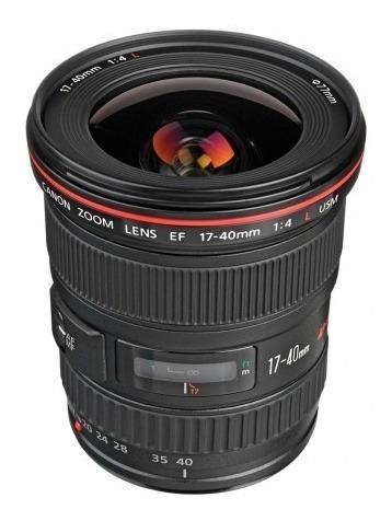 Lente Canon Ef 17-40mm F/4l Usm 100% Original + Brinde