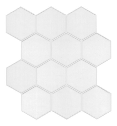 Vinilo Tipo Ceramico Hexagono  Blanco 16592