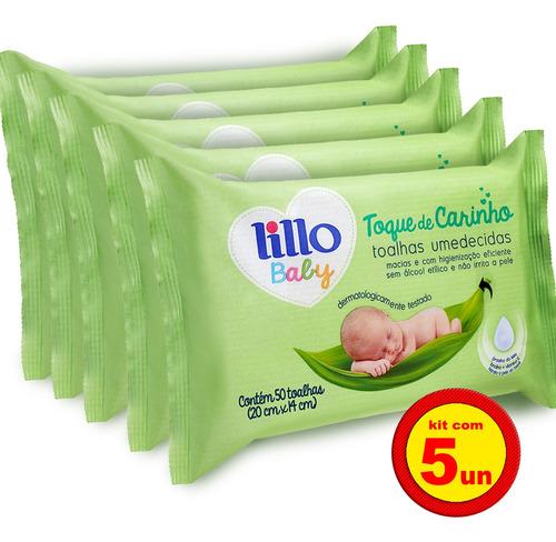 Kit 5 Lenços Umedecidos Toque De Carinho 50 Uni - Lillo