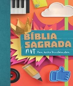 Biblia Sagrada Nvt - Colagem - Letra Normal/brochura C/ Orel