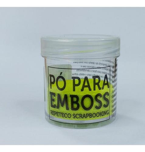 Imagem 1 de 1 de Repeteco - Pó Para Emboss Opaco - Cor Verde Limão - 14gr - (