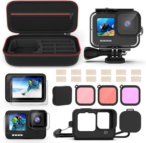 Kit De Accesorios Compatible Con Camara Gopro Hero 9 Black