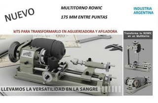 Torno 175 Mm Entre Puntas Multitorno Agujereadora Rowic