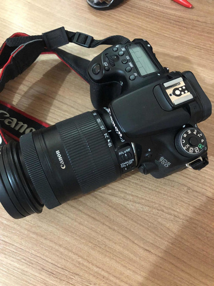 Câmera Canon Eos 70d (+-10k Clicks) + Lente 18-135 + 70-200