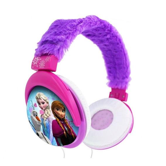 Fone De Ouvido Infantil Rosa Com Plush Frozen Disney