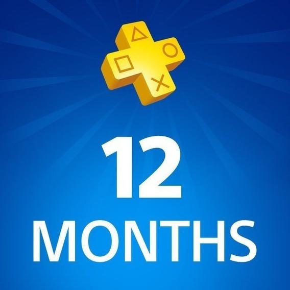 Psn Plus 1 Año Playstation Plus Tu Usuario + Juegos Ps4