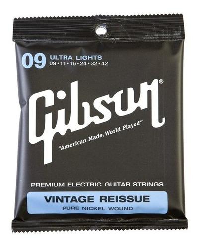 Imagen 1 de 1 de Encordadura P/guitarra Electric. Seg-vr9 Vintage Gibson