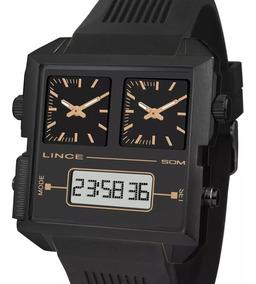 Relógio Lince Masculino Anadigi Map4588s P1px Preto + Nota