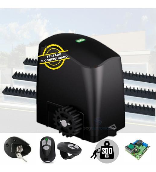 Kit Motor Para Portão Eletrônico Deslizante 1/5 Rcg 300kg