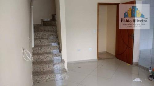 Sobrado Com 2 Dormitórios À Venda, 112 M² Por R$ 402.000 - Vila Eldízia - Santo André/sp - So0420