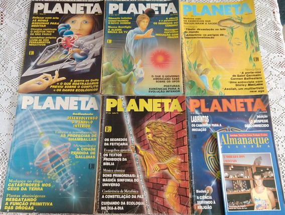 Lote Revistas Planeta - 15 Edições - Anos 91/92 - Raras