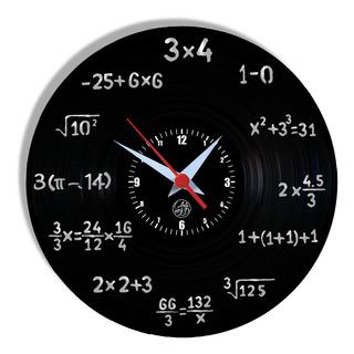 Relógio De Parede Vinil - Matemática Professor Profissão