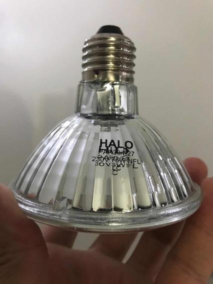 12x Halo Par30 75w Lâmpada Halógena 230v E27 Tampa Vidro Nfl