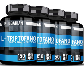 4 L Triptofano 500mg 150 Cáps Serotonina 5htp Bulgarian