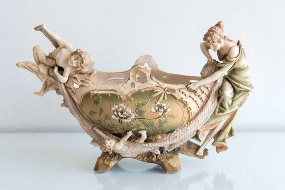 Porcelana Austriaca Turn Wein Estilo Art Nouveau