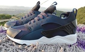 Zapatos Nike Air Max Huarache Azul Para Damas Y Caballeros..