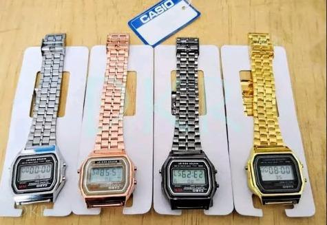 Reloj Casio Vintage Unisex Económico A168 Mayoreo
