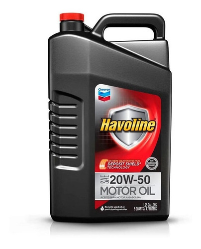 Aceite Para Motor A Nafta 20w50 Havoline 4.73 Lts Oferta
