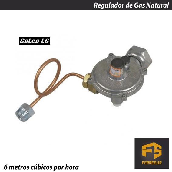 Regulador Gas Natural 6 M3 Galea Con Flexible Envio Gratis