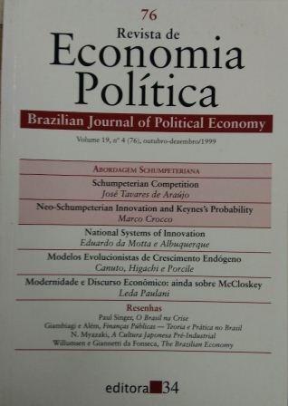 Revista De Economia Política Vol. 19 Nº4 Brazilian Journal