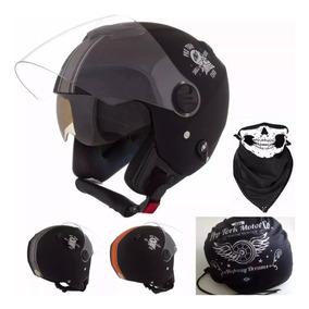 Capacete Custom New Atomic Skull Riders Pro Tork + Brinde