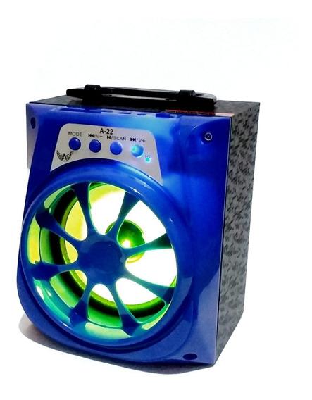 Caixa De Som Bluetooth Led Com Led Radio Fm Media Portatil