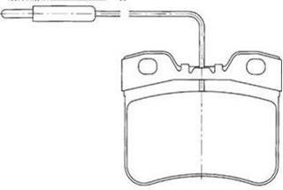 Pastilha Diant Ax 1.0 / 1.1 / 1.3 86/.. 3 Furos / 106 --