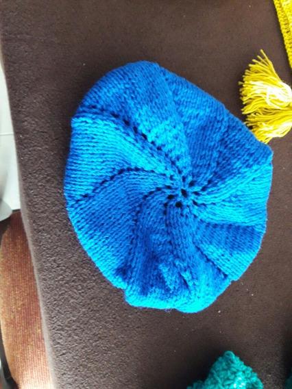 Boina Al Crochet De Lana Diseño Parisino