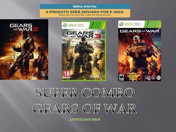 Gears Of War Midia Digital Super Combo Xbox-360 + Brindes