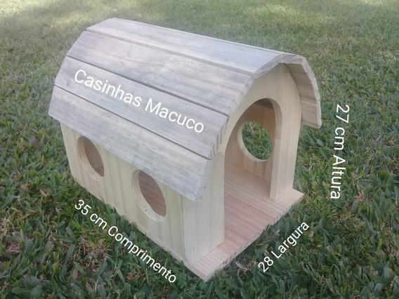 Casinha Para Coelho Chinchila Porquinho E Roedores