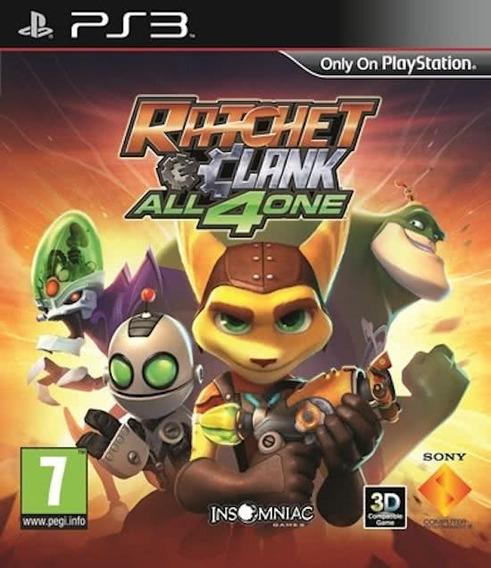 Jogo Ratchet And Clank All 4 One Ps3 Mídia Física Original