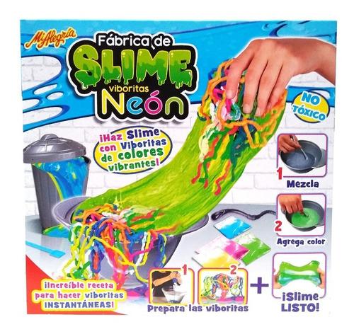 Imagen 1 de 4 de Juego Fabrica De Slime Viboritas Neon