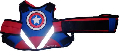 Imagen 1 de 9 de Chaleco Cinturon Plus Seguridad Niños Moto