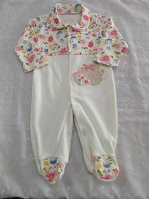 Macacão Bebê Menina Floral (malha)