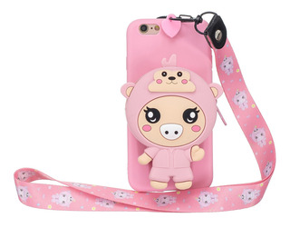 Capa Para Celular Para iPhone 7 Plus/8 Plus_3 Rosa Profundo
