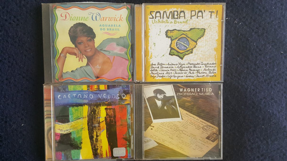 Lote De 4 Cds De Música Brasil