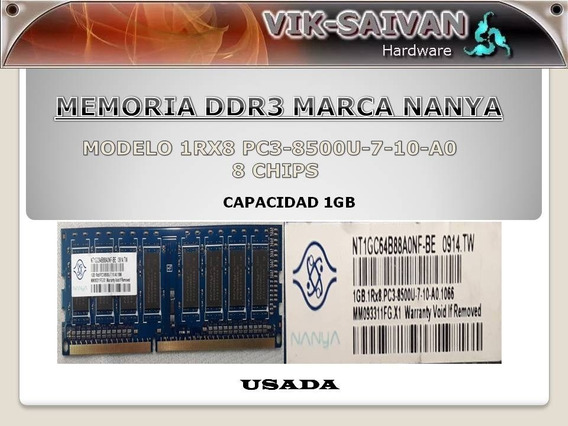 Memoria Ddr3 Nanya 1gb 1066mhz Pc3-8500 8 Chips 2